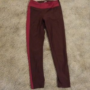 Joy Lab Maroon and Pink Workout Pants